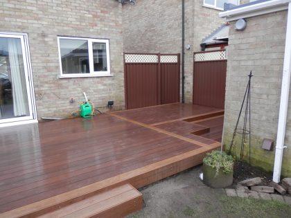 composite decking garden renovation 17