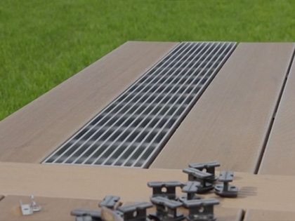 composite decking built on timber piles