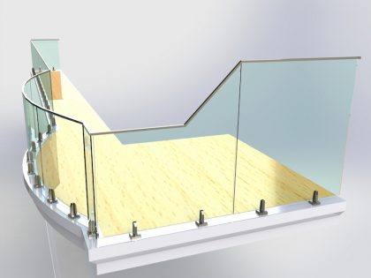 curved glass balcony design solution