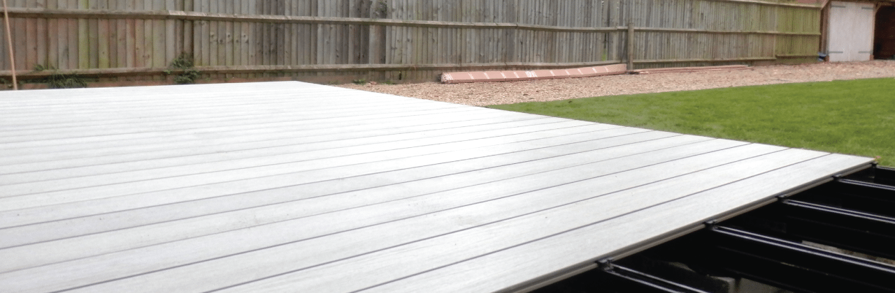 Qwickbuild Aluminium Decking Frame with Composite Decking