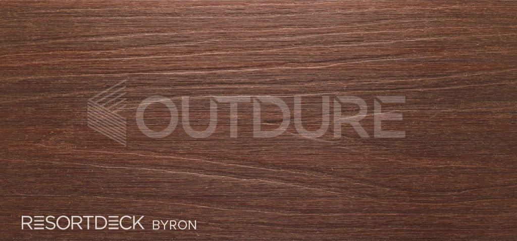 BYRON RESORTDECK Dark Mahogany Hardwood Effect Deck