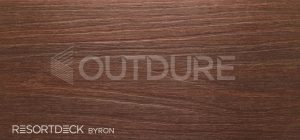 BYRON RESORTDECK Dark Mahogany Hardwood Effect Deck